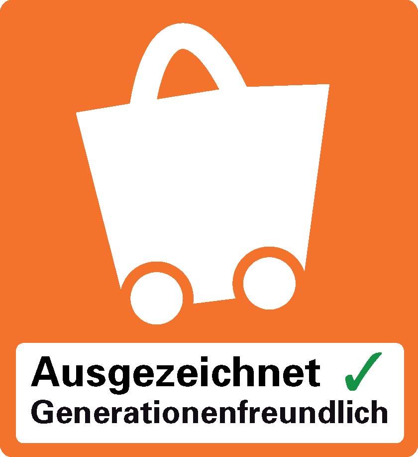 Logo Qualitätszeichen Generationenfreundliches Einkaufen